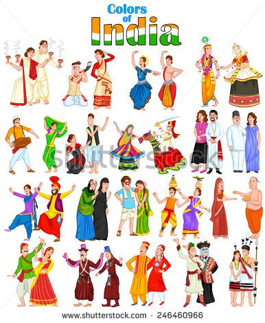 cceef0ec51 Happy couple from different states of India in vector | Indian ...