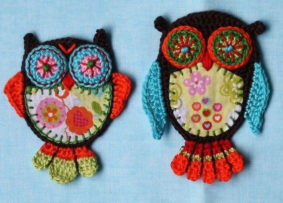 Applique Owl x2 Vol2 Crochet Pattern by CAROcreated on Etsy ...
