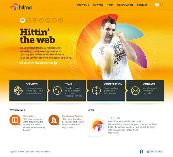 Hitmo Hittin The Web By Hitmo Via Behance Web Design Agency Web Design Web Design Inspiration