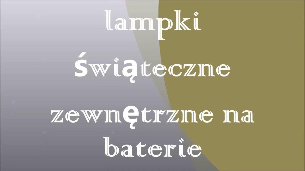 Lampki świąteczne Zewnętrzne Na Baterie Zewnętrzne Lampy Z