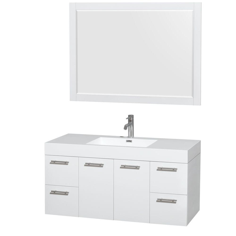 Wyndham Collection Amare 48 In Vanity In Espresso With Acrylic