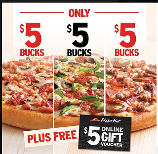 Pizza Hut Deals Free 5 Bonus Card 5 Pizza Promo Pizza Promo Pizza Meal Deal