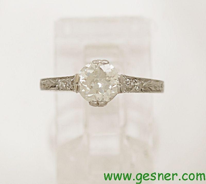vintage platinum wedding rings   Antique Diamond Vintage Art Deco Edwardian Platinum Engagement Ring ...