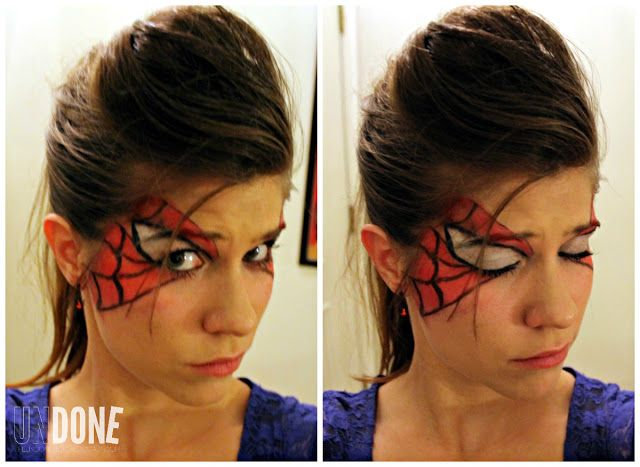UNDONE Spider-Man Makeup Holiday Fun Pinterest Men makeup - halloween costume ideas for the office
