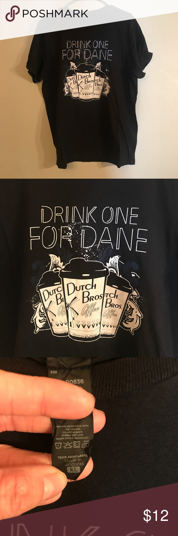 Dutch Bros Drink One For Dane Tee Great condition. Dutch Bros Tops Tees - Short Sleeve #dutchbros Dutch Bros Drink One For Dane Tee Great condition. Dutch Bros Tops Tees - Short Sleeve #kidsmessyhats