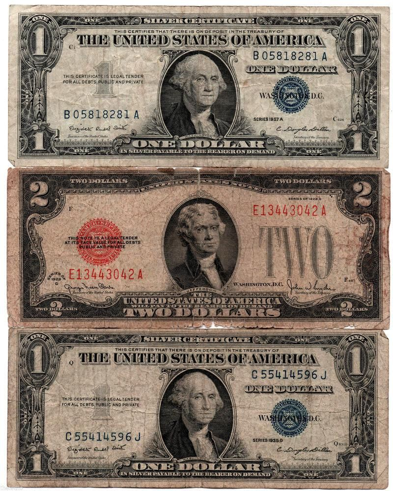 Xiibpeewfo on silver certificate 100 rare very old vintage 1935 1957 us silver certificate lot antique 2 dollar http xflitez Images