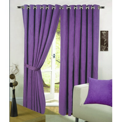 orchid faux suede eyelet curtains in purple living room ideas rh pinterest com
