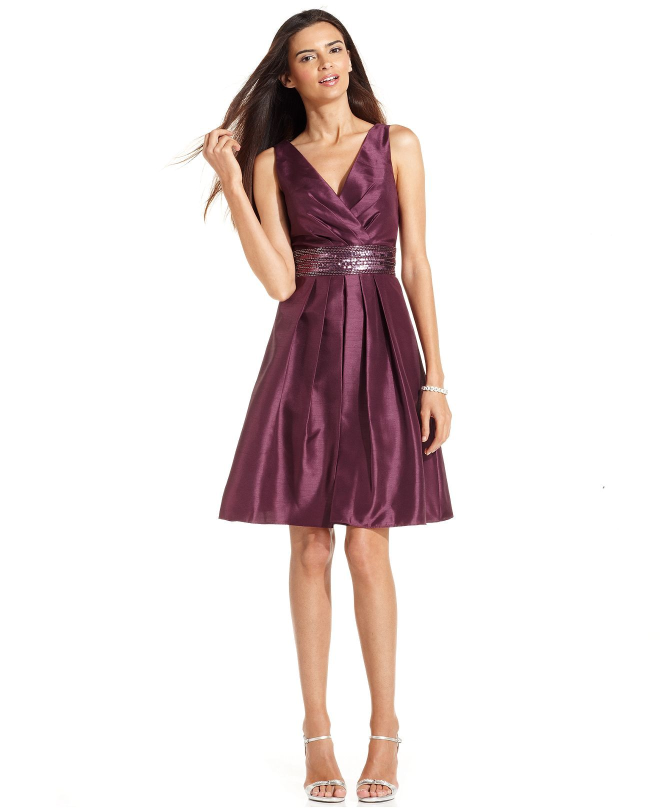 JS Boutique Dress, Sleeveless Embellished Waist - Dresses - Women - Macy's