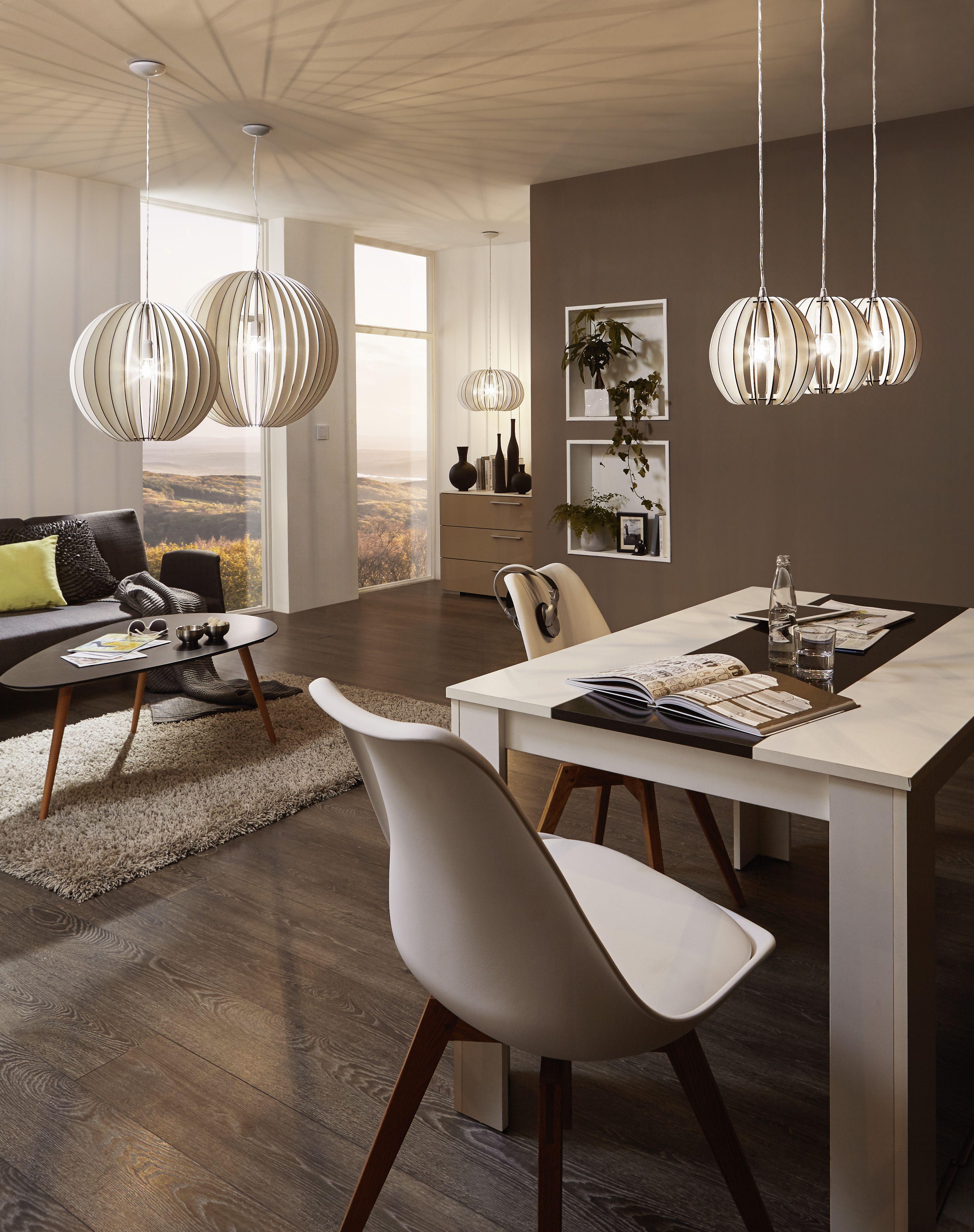 Eglo Lighting / Cossano / Steel & White Wood 1 Lamp