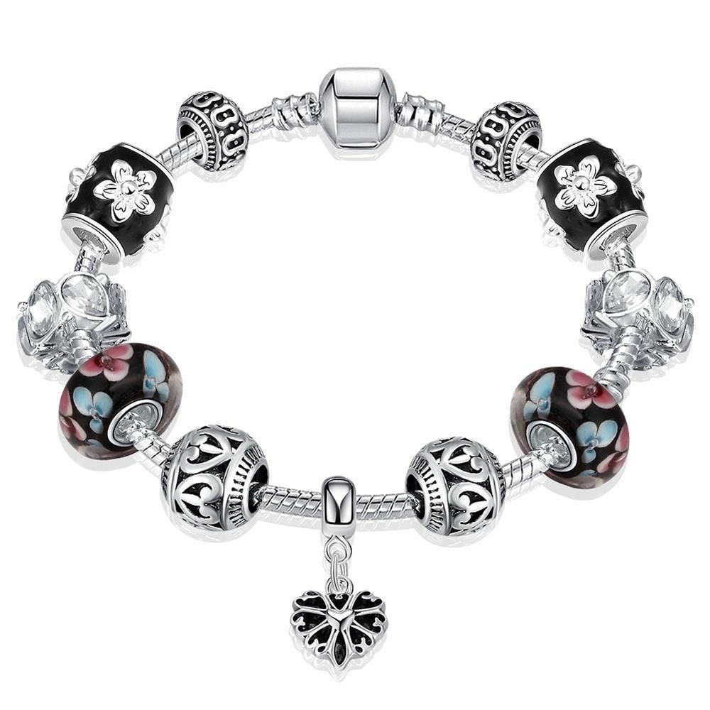 Heart pandora inspired charm bracelet in products pinterest