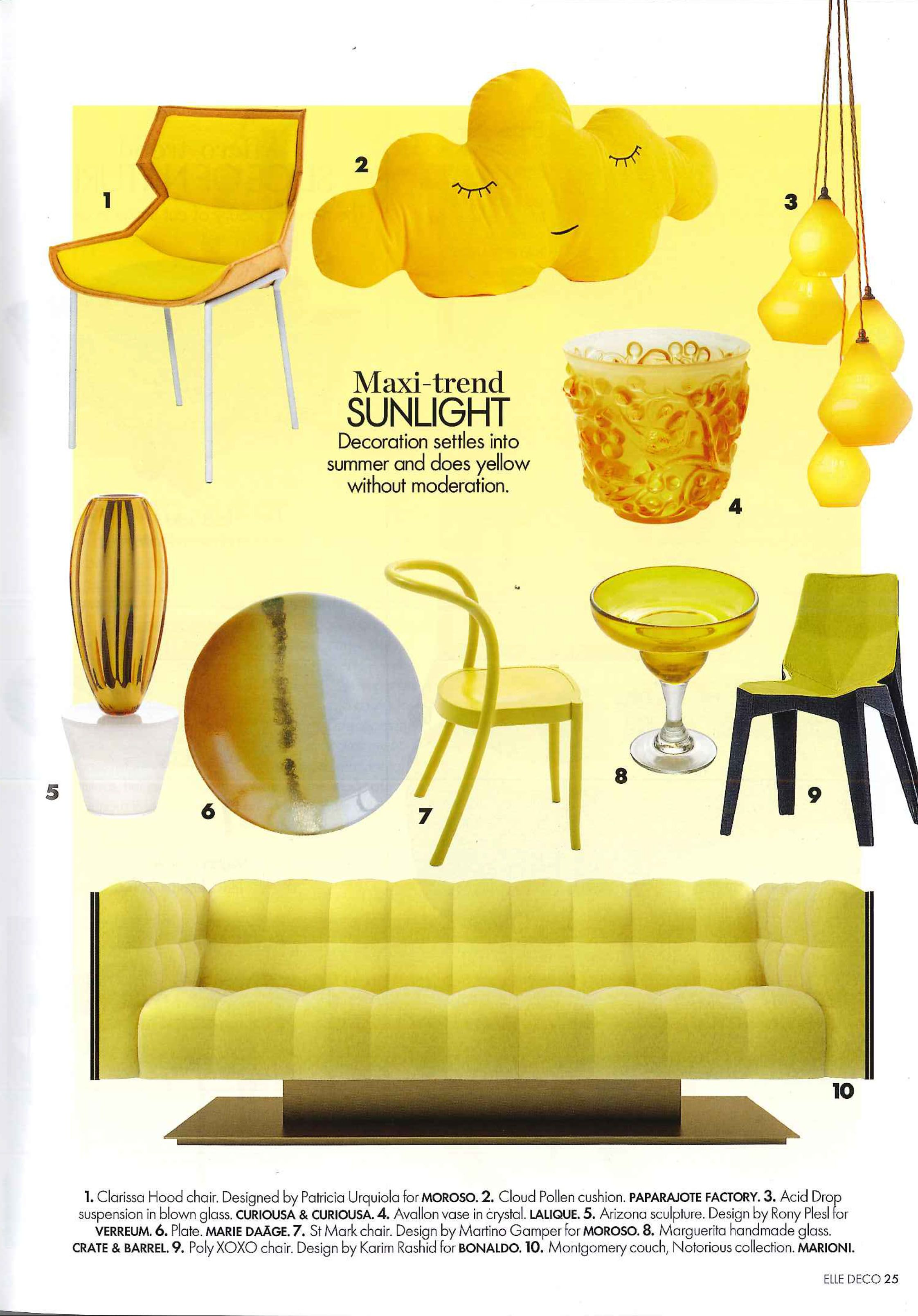 Press release on ELLE DECOR (UAE) Aug.2015, Montgomery sofa in ...