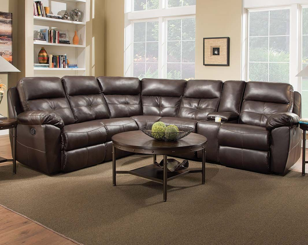 Double Recliner Brown Sofa Bradford Chocolate Reclining Sectional Reclining Sectional Sectional Sectional Sofa