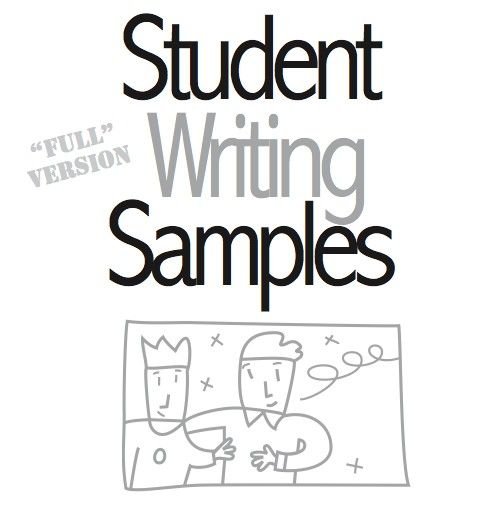 This is a PDF file of a bunch of student writing samples