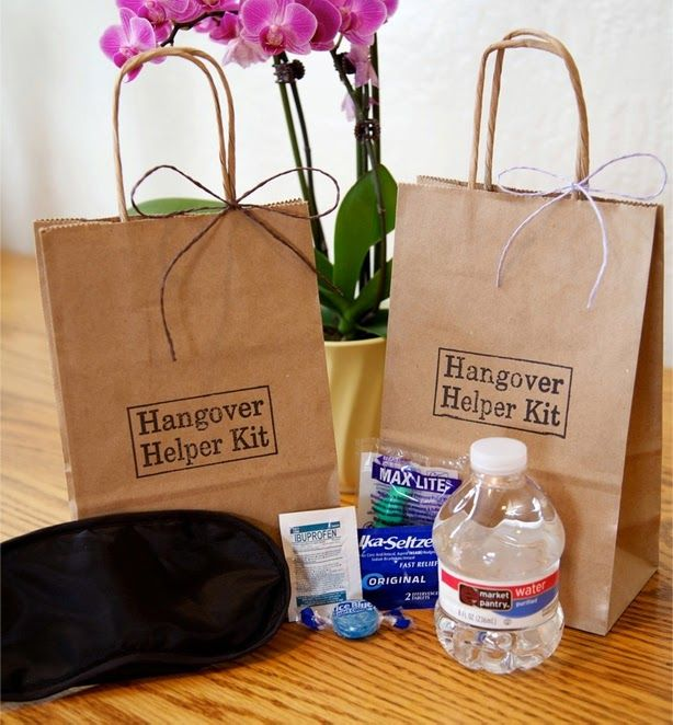 Wedding Hangover Helper Emergency Kit Guest Bags For Guests