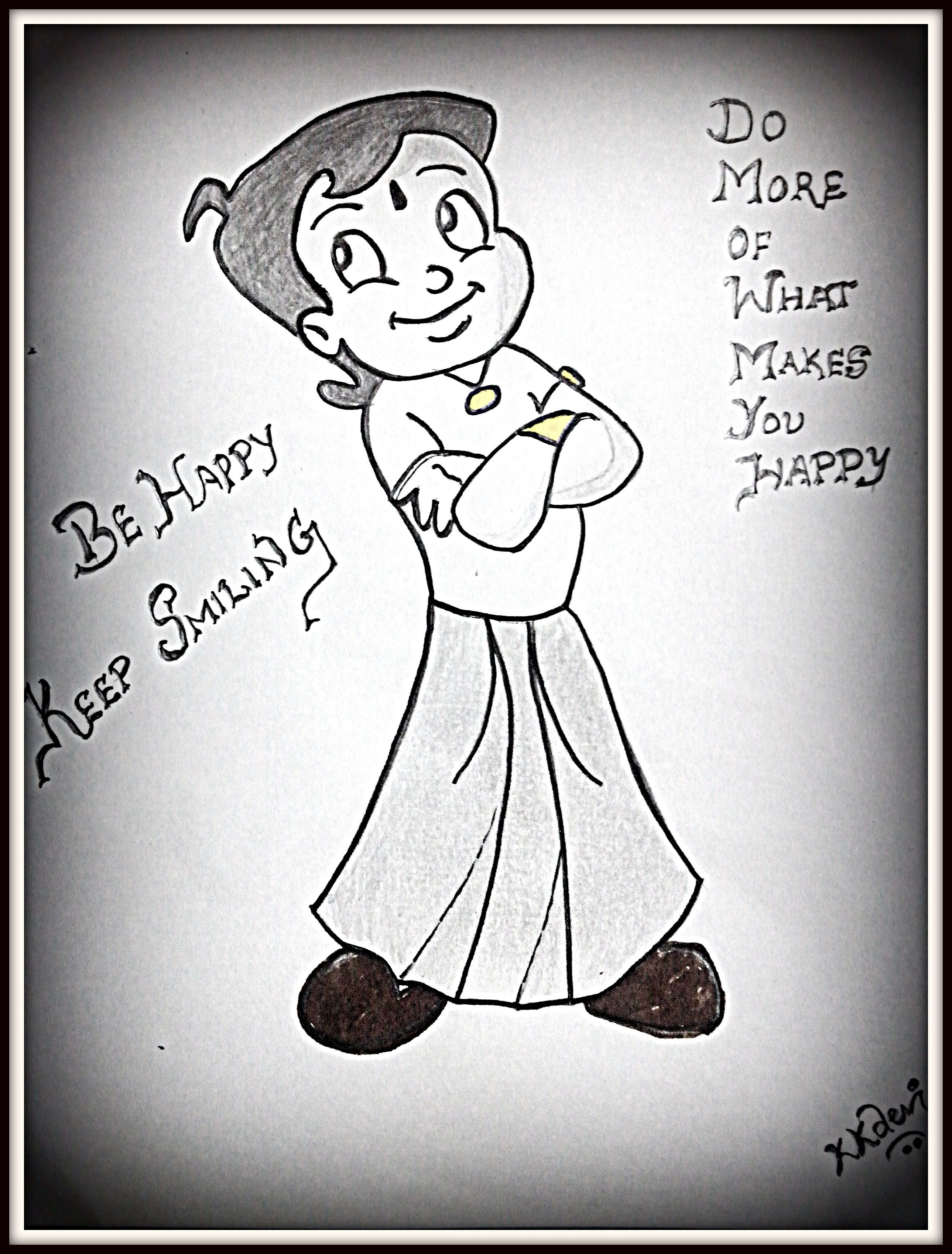 Chota bheem my drawings drawings cartoon art