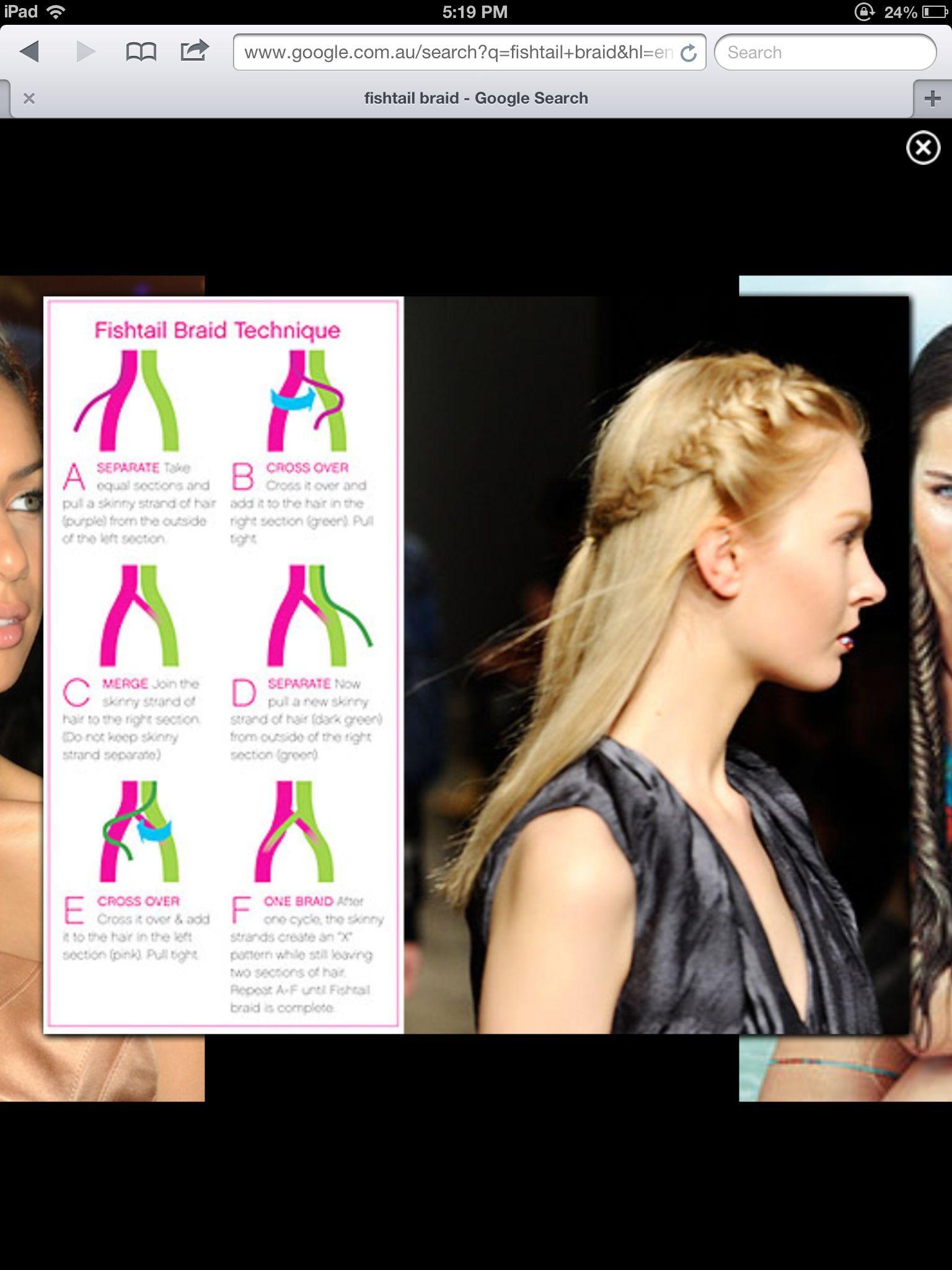 How to do a fishtale braid hair pinterest hair style fishtail