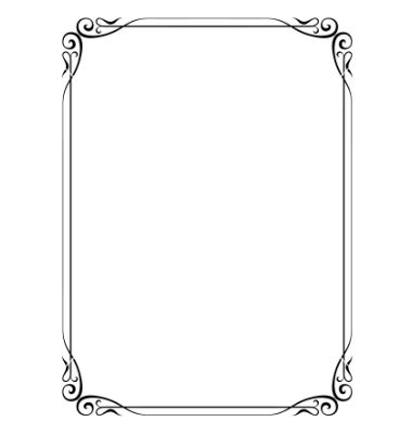 Simple ornamental decorative frame vector 691861 - by 100ker