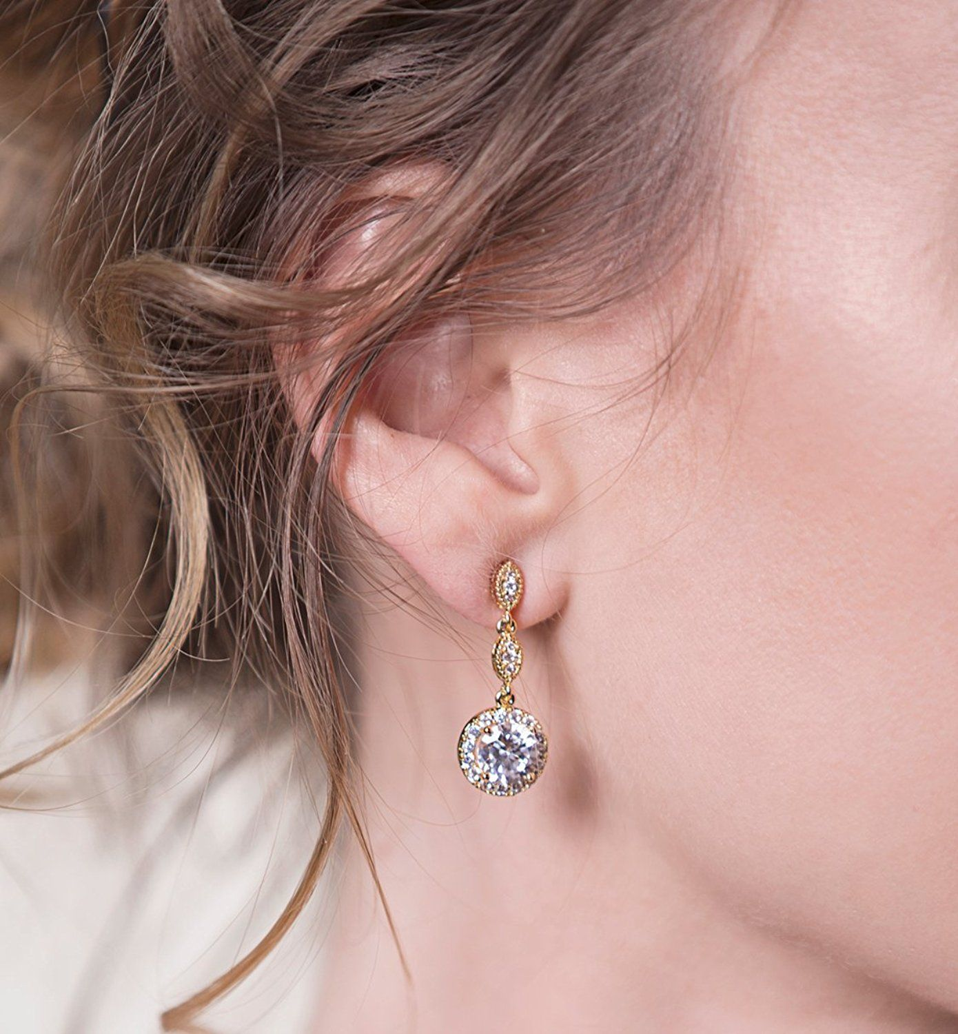 Wedding Bridesmaids Drop Earrings in Silver, Gold, Rose Gold ...