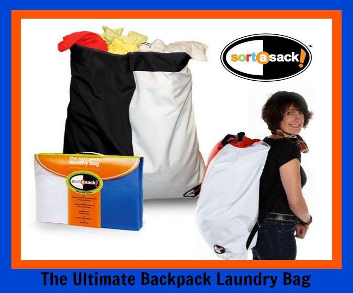 Money Saving 3 In 1 Hamper Laundry Sorter Laundry Bag Backpack