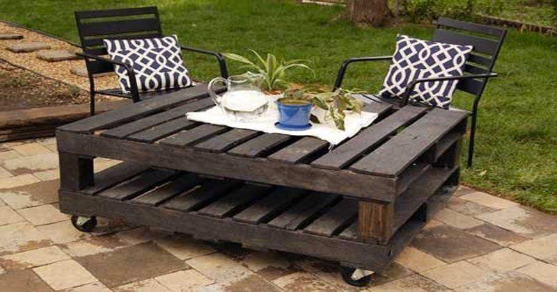 Faire un salon de jardin en palette | Table basse bois ...