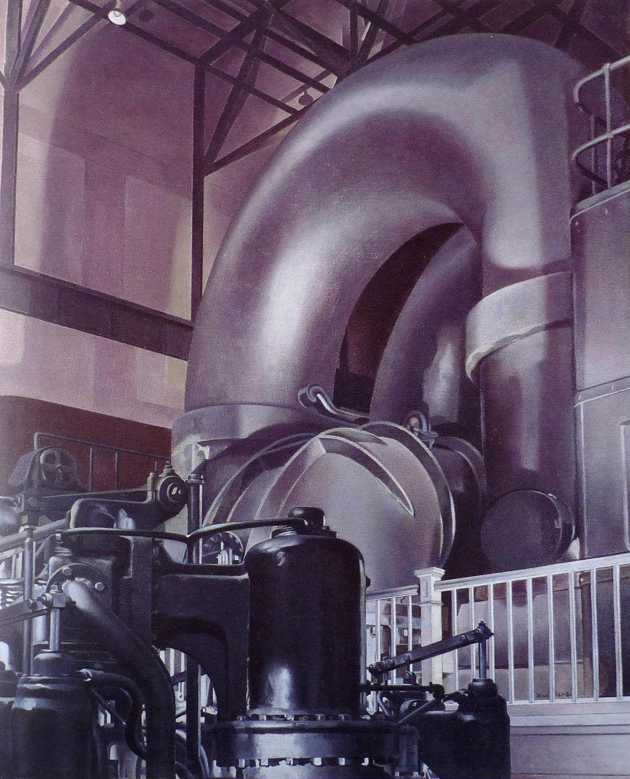 1939 The Steam Turbine Charles Sheeler Art