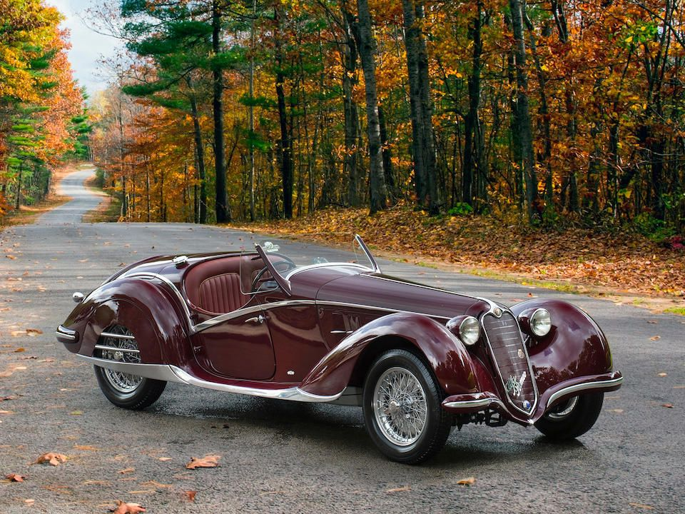 The ex-Bill Jacobs and ex-Gene Ponder,1939 Alfa Romeo 6C 2300B Short-Chassis Spider  Chassis no. 813219