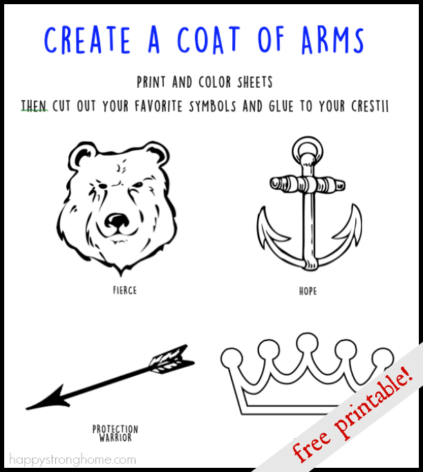 Create a Coat of Arms Activity | School | Coat of arms