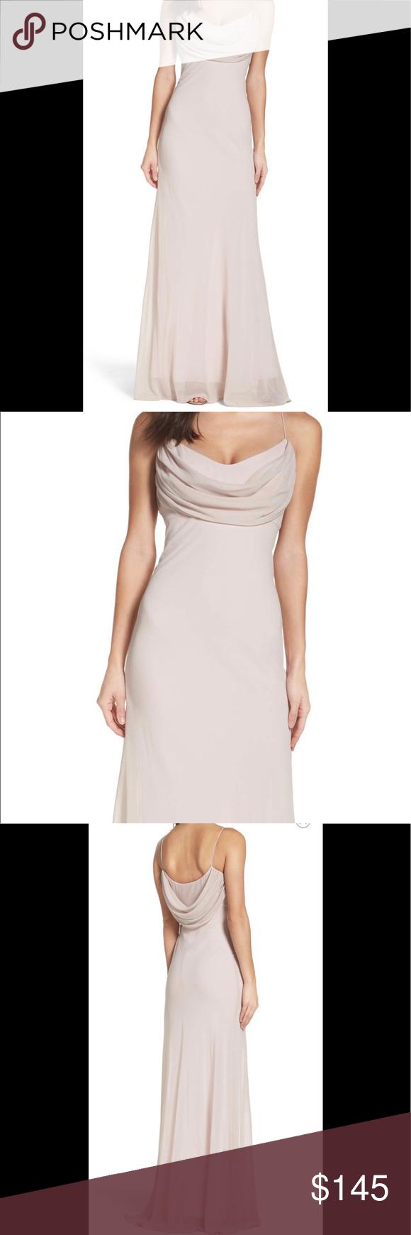 6b6b88eb02ccb Katie May Eden chiffon drape gown Sz 4 NWT grey Elegantly draped and  minimal in design