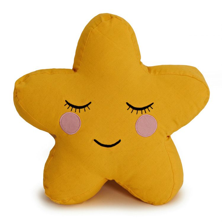 Star cushion in yellow