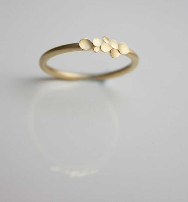 Simple yet elegant - engagement rings – Dahlia 18ct yellow gold ring, unique engagement ring, amazing jewellery – a unique product by dkjewellery via http://en.dawanda.com