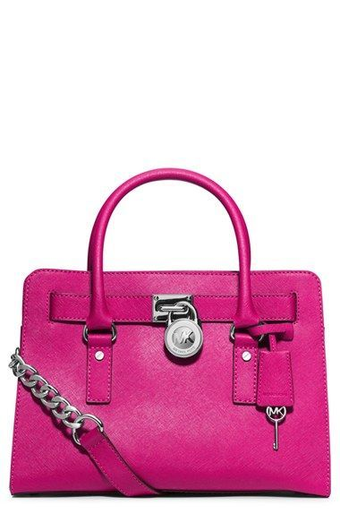 ddd44193c20c MICHAEL Michael Kors 'Medium Hamilton' Saffiano Leather Satchel available  at #Nordstrom