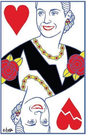 Eva Perón, Queen of Hearts.