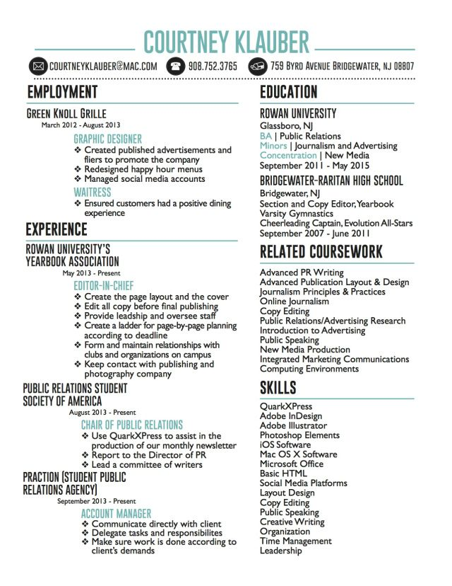 Creative Resume Resume, Creative and Creative resume - resume for public relations