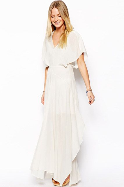 d09916e419e5 ASOS PETITE Caftan Maxi Dress with Kimono Sleeve, $142.91, available at ASOS.#womens  #petite #fashion