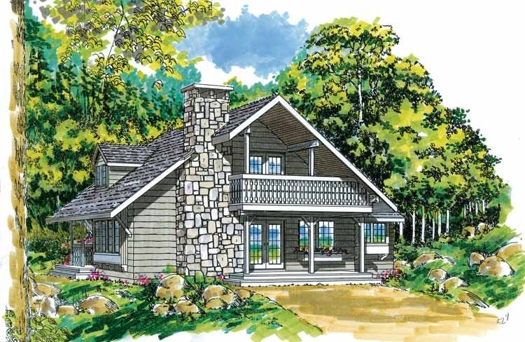 Eplans A Frame House Plan Vacation Cottage 1670 Square