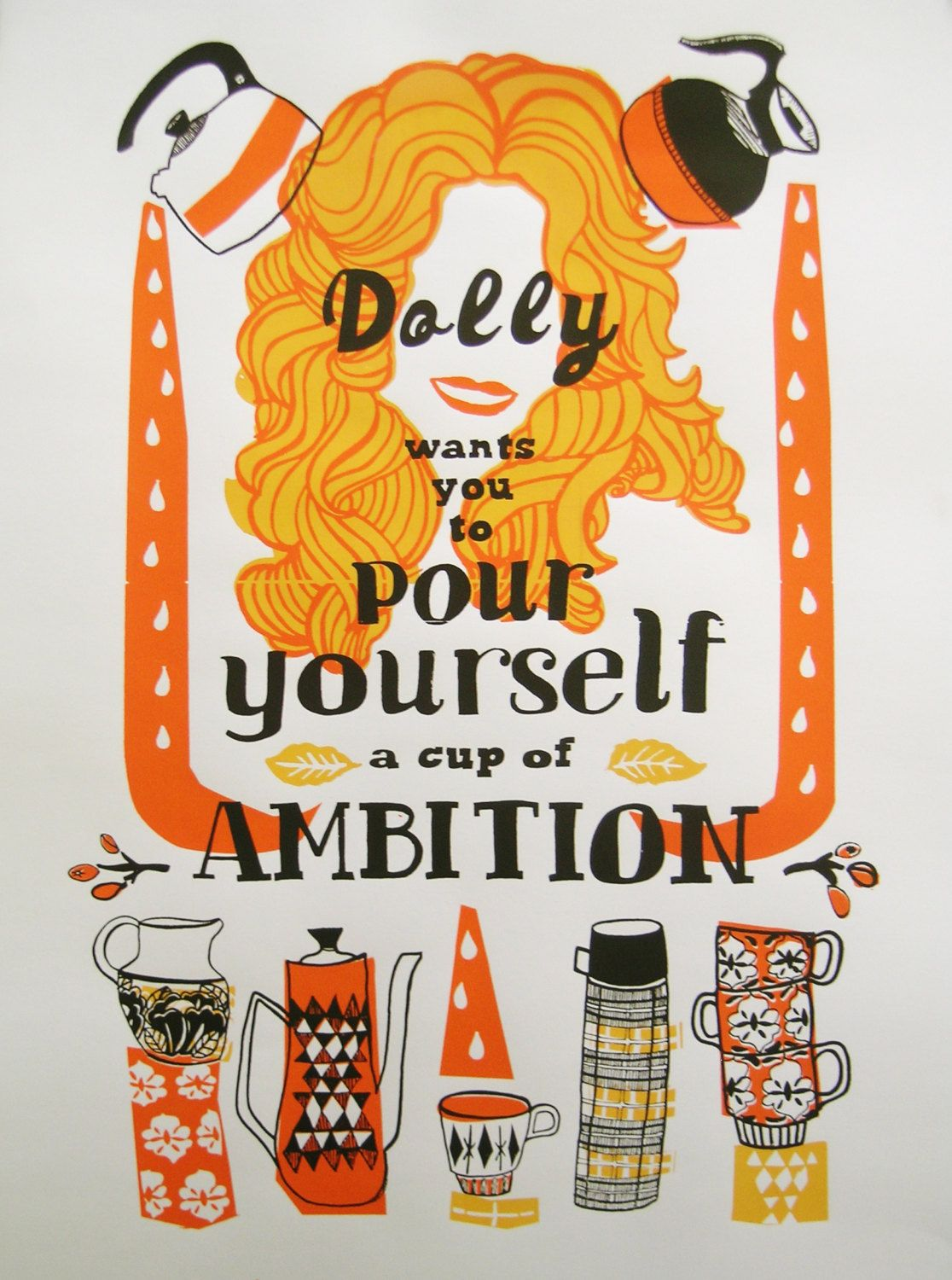 7a260a18236a9 Dolly Parton Screenprint 2ND EDITION Hand by LesleyAnneNumbers ...