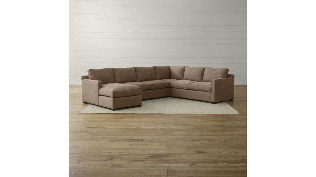 Fabulous Davis 4 Piece Sectional Sofa Crate And Barrel Darius Gmtry Best Dining Table And Chair Ideas Images Gmtryco