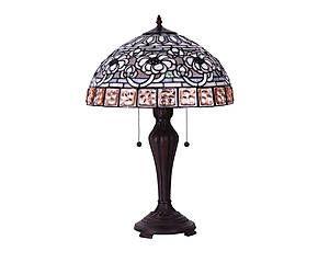 Lampada da tavolo stile Tiffany in vetro e metallo Doreen - H 61 cm