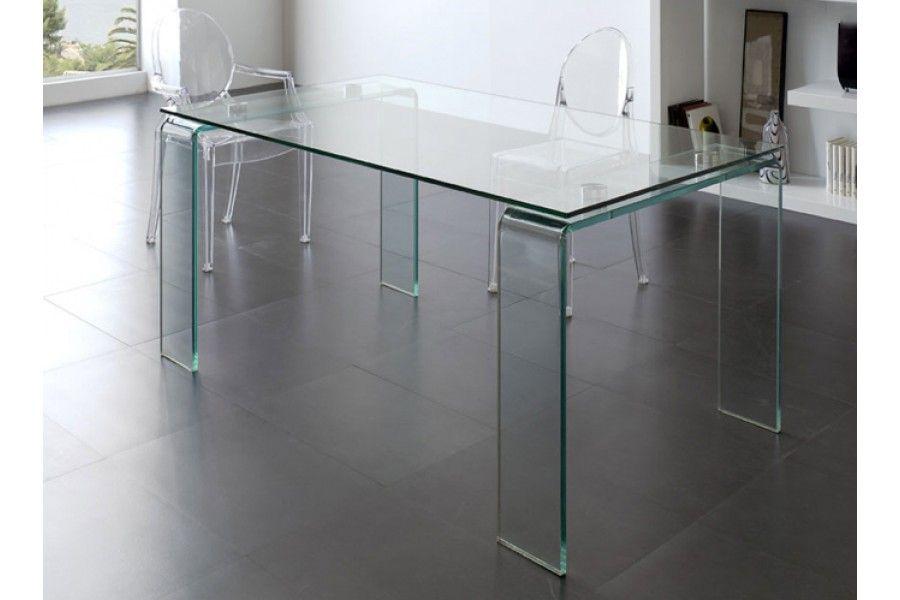 Mesa de comedor de cristal 160x90 cm Pinterest Mesa de comedor