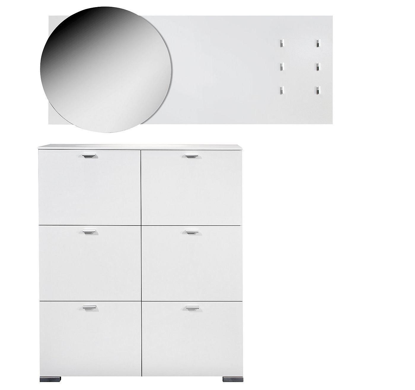 moderne garderoben kombination bestehend aus gallery schuhschrank mit sechs schuhf chern. Black Bedroom Furniture Sets. Home Design Ideas