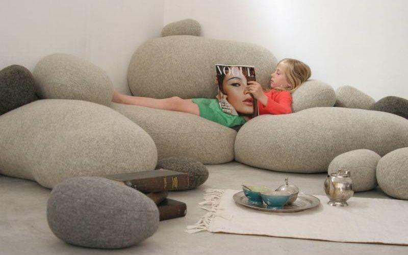 Bean Bag Living Room Floor Pillows