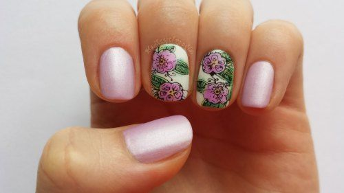 girly flowers using OPI sheer tints