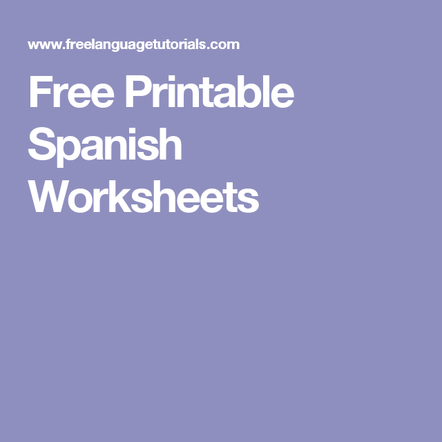 Business Spanish Course Spanish Worksheets Spanish And Worksheets