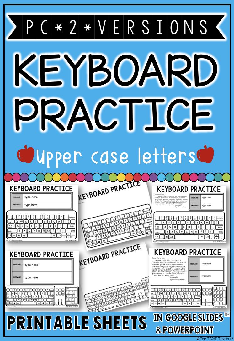 Pc keyboard printable practice sheets | Grade A ideas | Pinterest ...