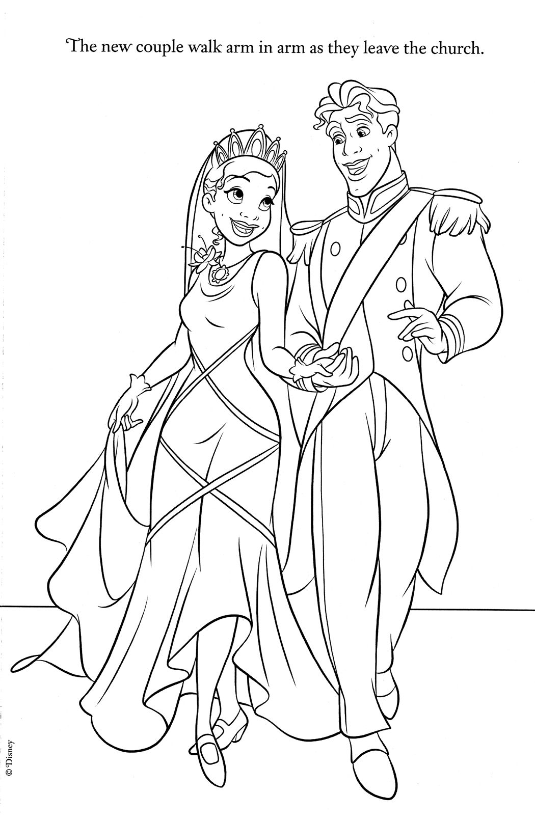 Tiana and Naveen Coloring Pages colouring pages Pinterest