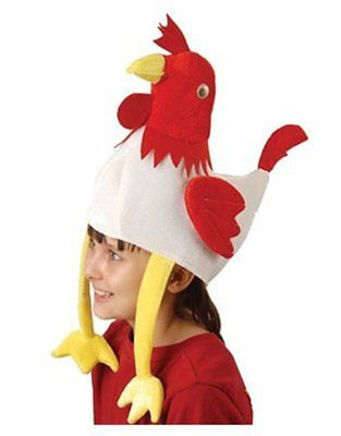 Deluxe Stuffed Plush Chicken Rooster Hat Costume Party Cap New Free Shipping  sc 1 st  Pinterest & Deluxe Stuffed Plush Chicken Rooster Hat Costume Party Cap New ...