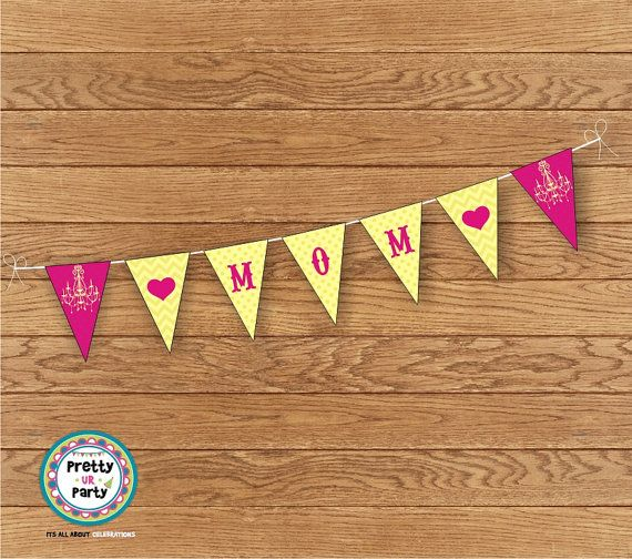 mother 39 s day printable bunting banners 01 by prettyurparty mothers day crafts for. Black Bedroom Furniture Sets. Home Design Ideas