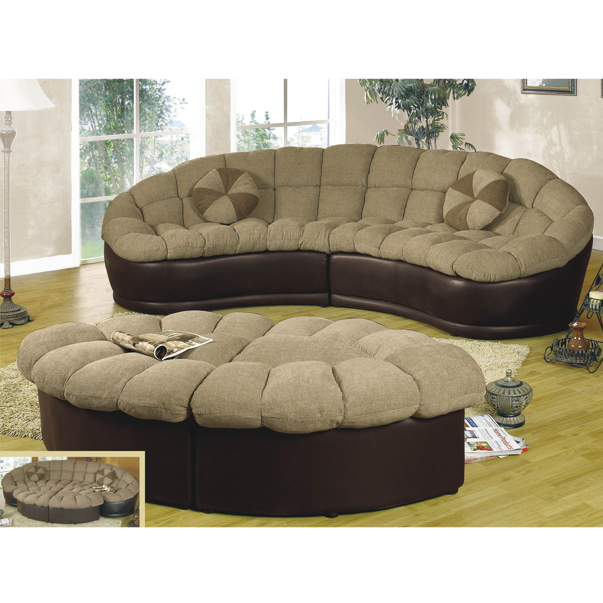 Papasan Two Piece Sectional Sofa Overstock Com Shopping