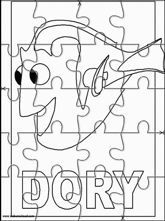 Finding Nemo Printable Jigsaw Puzzles to cut out for kids