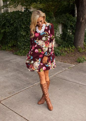 Online boutique. Best outfits. Against All Odds Floral Dress - Modern Vintage Boutique